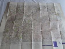 vintage map published War Office 1949 Kelso & Cheviot one inch. Military