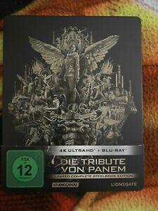 Die Tribute von Panem Quadrilogie Blu-ray Steelbook SELTEN / Neuwertig + TOP