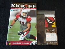 2005 Arizona Cardinals NFL Program & Ticket Last Game At Sun Devil Stadium ASU