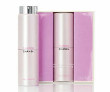 CHANEL CHANCE EAU TENDRE EDT Twist & Purse Spray Travel Set + Refills 3 X 0.7OZ