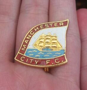 MANCHESTER CITY FC VINTAGE 1970s COFFER LONDON SHIP PIN BADGE RARE VGC