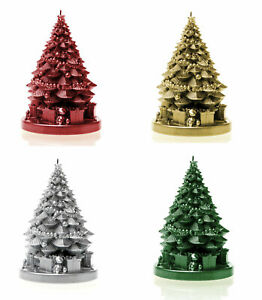 Christmas Tree With Gifts Candle 4 Metallic Colours Home Decoration Table Gift