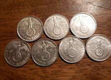 HIGH GRADE 1937-1939 SILVER 2 MARK NAZI COIN W/ SWASTIKA  2 REICHSMARK - AU