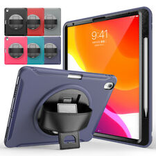 """For iPad Pro 11"""" 12.9"""" 3rd Gen 2018 Shockproof 3 Layer Rotating Stand Strap Case"""