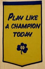 NCAA College Wimpel Pennant Banner NOTRE DAME FIGHTING IRISH PLAY LIKE Champions