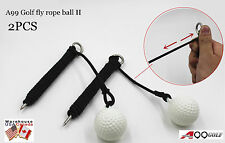 2pcs A99 Golf Flexible rope Driving Ball Swing Hit Shot Practice Training Aid