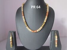 Indian Bollywood Gold Plated Multicolor Jewelry CZ Fashion Necklace Earring Sets