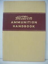 VINTAGE Original Western cartridge 1950 Ammunition Handbook Pamphlet Brooklet