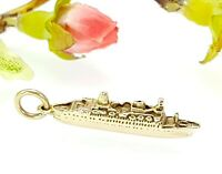 Vintage 9 CT Gold Sea Princess Cruise Ship Liner Charm - Collectable