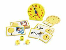 Learning Resources Time Activity Set Homeschool Analog Clock Tactile Learning.
