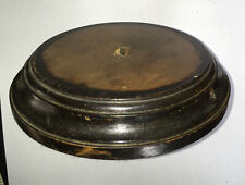 Antique Round Wooden Lamp Base or Display Stand 11cm.