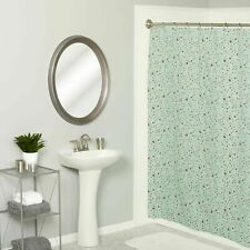Zenith Vinyl Shower Curtain Bubbles Metal Grommets Mildew Resistant Peva