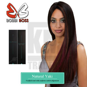 Bobbi Boss Indi Remi Natural Yaki Luxury Remi Human Hair WVG