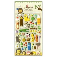 CUTE ANIMAL FARM STICKERS Cartoon Cow Pig Owl Fox Puffy Craft Scrapbook Sticker