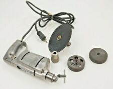 """Vintage 1/4"""" Craftsman 80 Electric Drill Model 315.7710 With Attachments Silver"""