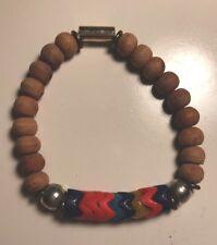 NWOT Designer Vanessa Mooney Fawn African Sandalwood Bead Stretch Bracelet