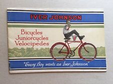 1928 Iver Johnson Bicycle and Velocipedes Catalog 33 Pages!