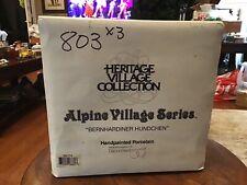 Dept 56 Bernhardiner Hundchen-St Bernard Kennel Alpine Village #56174 -1997