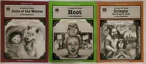 A Guide for Using -Hoot-Crispin  in the Classroom  Literature Units lot of 3