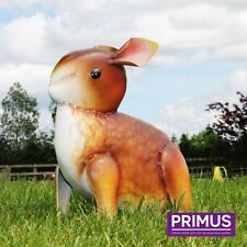 Primus Brown Baby Bunny Rabbit Metal Garden Lawn Statue Ornament SPECIAL OFFER!