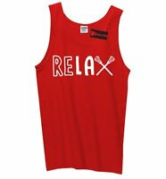 ReLAX Mens Tank Top Lacrosse Player Sports Graphic Tee Z3