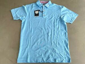 FootJoy Stretch Heather Pique Polo Large Caribbean