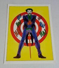 Original 1978 Joker DC Detective Comics poster 1:Batman foe/Infantino art/1970's