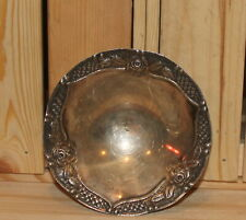 Vintage ornate floral silver plated footed bowl