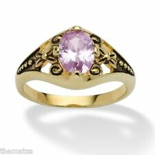 WOMENS ANTIQUED 14K GOLD BIRTHSTONE JUNE ALEXANDRITE RING  5 6 7 8 9 10