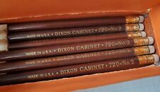 Vintage 20s Dixon Cabinet 720 No. 2 Pencils - Lot of 9 Unused in Motif Tin