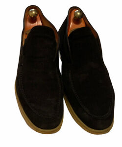 Loro Piana Mens Open Walk Summer Walk Blue Ankle Boot Size EU 46 RRP £710
