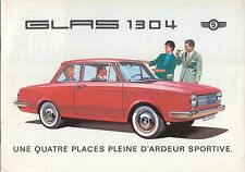 Glas 1004 1304 Saloon Convertible Mid 1960s Original Sales Brochure French