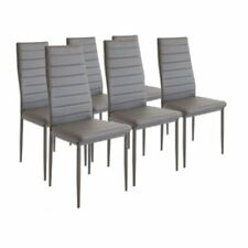6 Modern Dining Chairs Dining Room Chair Table Faux Leather Furniture Cozy cD