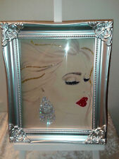 Marilyn Monroe Make up Face glitter Picture wall art-Print Only! No Frame A4