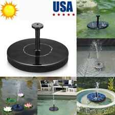 Solar Powered Fountain Bird Bath Water Pump Floating Garden Outdoor Pond Patio
