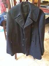 Vintage WW2 Men's US Navy USN Wool Pea Coat - Excellent Condition