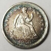 1850 O Liberty Seated Half Dime MS+ High Grade Gorgeous Toning