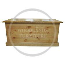 HANDMADE SOLID PINE DEWSBURY OTTOMAN STORAGE BOX  KENILWORTH POLISHED(ASSEMBLED)