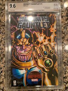9.6 PGX Graded (not CGC) Cover Sketch Original Art Thanos Infinity Gauntlet