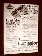 Pubblicità dei 1932 Luminator Italiano Milano e Società Nazionale dei radiatori