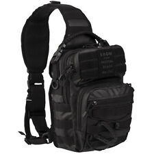 Zaino Mil-tec Monospalla Incursore Tactical Black Backpack US Assault 10 litri