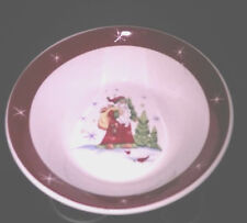 Santa Red Band Made In China Soup Cereal Bowls Set / 2 Read Detail Inter-America