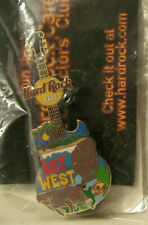 New 2004 Hard Rock Cafe Key West Manatees w/Sunset Beach Gibson Es Guitar Pin