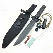 """SURVIVAL 13"""" TACTICAL FIXED BLADE Hunting BOWIE Knife w/SURVIVAL KIT"""