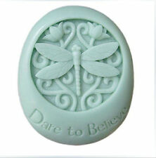 Dare to Believe Dragonfly Silicone Soap DIY Mold Craft Art Soap Making Mould