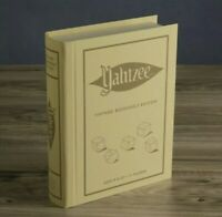 NEW YAHTZEE 🎲 Vintage Bookshelf Edition Collectible Linen Board Game 🎲