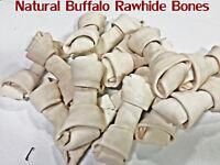 "American Buffalo Rawhide 6"" Bones  | 4 Lbs Bulk | 100% Natural Dog Chews"