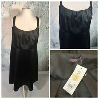 EVANS Ladies Black Dress Size 26 Evening NY Party Cruise Zip Stretchy NEW NWT