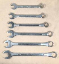 Vintage 6pc S-K SK Combination Wrench Set SAE 5/8