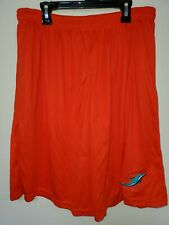0724 Mens NFL MIAMI DOLPHINS Polyester Jersey SHORTS Embroidered ORANGE